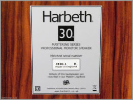 harbeth m30.1 speakers review 10 monitor 30.1 label