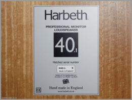 harbeth m40.1 speakers review 12 harbeth monitor 40.1 rear label