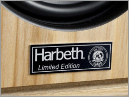 harbeth p3esr speakers 40th anniversary review 10 harbeth limited edition logo